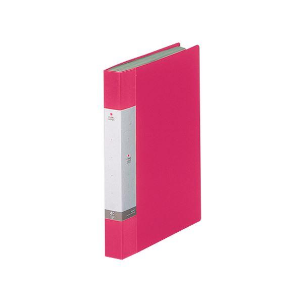 (まとめ) リヒトラブ リクエスト クリヤーブック(クリアブック) A4タテ 40ポケット 背幅32mm 赤 G3202-3 1冊 【×30セット】