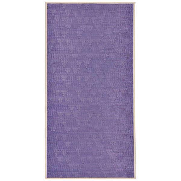 【マラソンでポイント最大44倍】国産い草 ラグマット/絨毯 【約87×174cm ぶどう】 日本製 裏貼り仕様 防滑加工 縁:綿100% 『はぐくみ』 〔リビング〕【代引不可】
