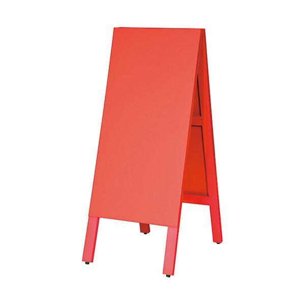 マグネットも使えるA型案内板 [ギフト/プレゼント/ご褒美] 期間限定お試し価格 馬印 多目的A型案内板 赤いこくばんWA450VR 1枚