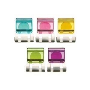 (まとめ) トーキンマグネット付スライドクリップ(クリア) L 5色ミックス SCC-LMG10M 1パック(10個:各色2個) 【×10セット】