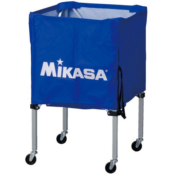 MIKASA(ミカサ)器具 ボールカゴ 箱型・小(フレーム・幕体・キャリーケース3点セット) ブルー 【BCSPSS】