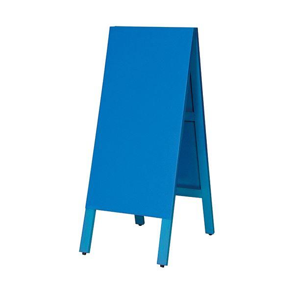 アウトレットセール 商い 特集 マグネットも使えるA型案内板 馬印 多目的A型案内板 1枚 青いこくばんWA450VB
