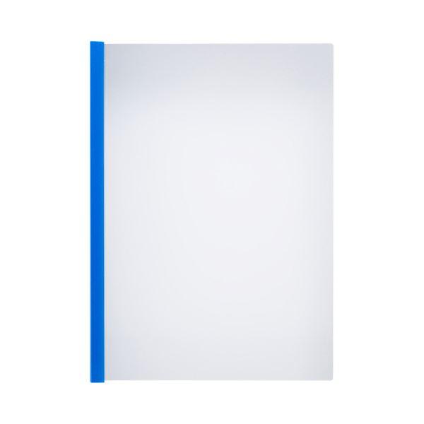 (まとめ)TANOSEE 薄型スリムレールホルダーA4タテ 10枚とじ 青 1セット(150冊:30冊×5パック)【×3セット】
