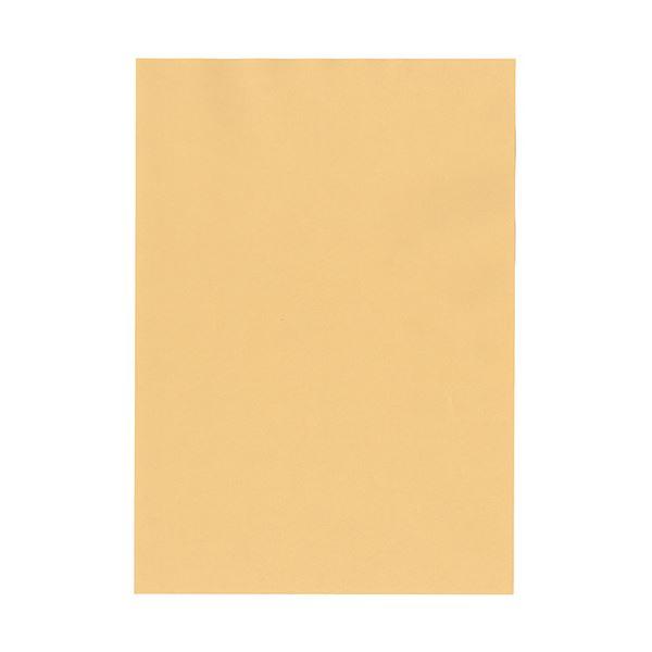 (まとめ) 北越コーポレーション 紀州の色上質A4T目 薄口 白茶 1冊(500枚) 【×5セット】