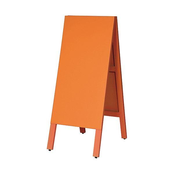 マグネットも使えるA型案内板 馬印 多目的A型案内板 即出荷 1枚 オレンジこくばんWA450VD 春の新作