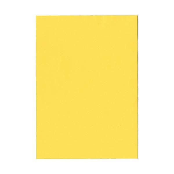(まとめ) 北越コーポレーション 紀州の色上質A4T目 薄口 濃クリーム 1冊(500枚) 【×5セット】