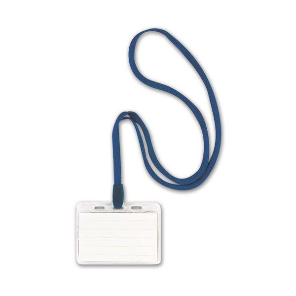 【スーパーセールでポイント最大44倍】(まとめ)吊り下げ名札 スタンダードタイプ 青 10個入×3パック【×3セット】