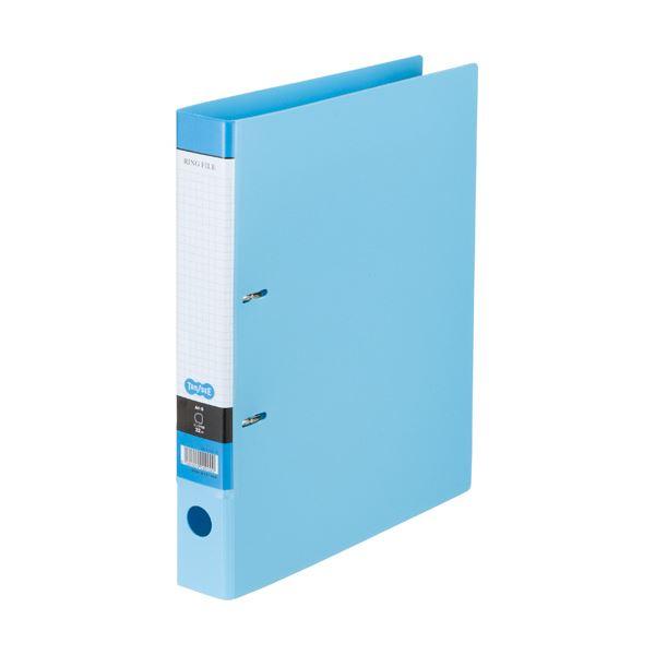 (まとめ) Dリングファイル A4-S 背幅45mm ライトブルー 10冊 【×10セット】