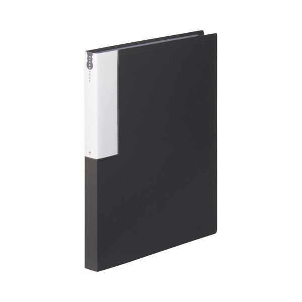 (まとめ) TANOSEE クリヤーブック(クリアブック) A4タテ 36ポケット 背幅24mm ダークグレー 1セット(10冊) 【×10セット】