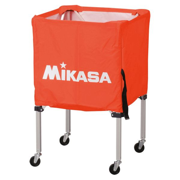 【··で··最大44倍】MIKASA(ミカサ)器具 ボールカゴ 箱型·小(フレーム·幕体·キャリーケース3点セット) オレンジ 【BCSPSS】