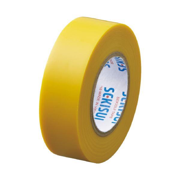 【スーパーセールでポイント最大44倍】(まとめ)セキスイ エスロンテープ #360 19mm×10m 黄 V360Y1N(×300セット)