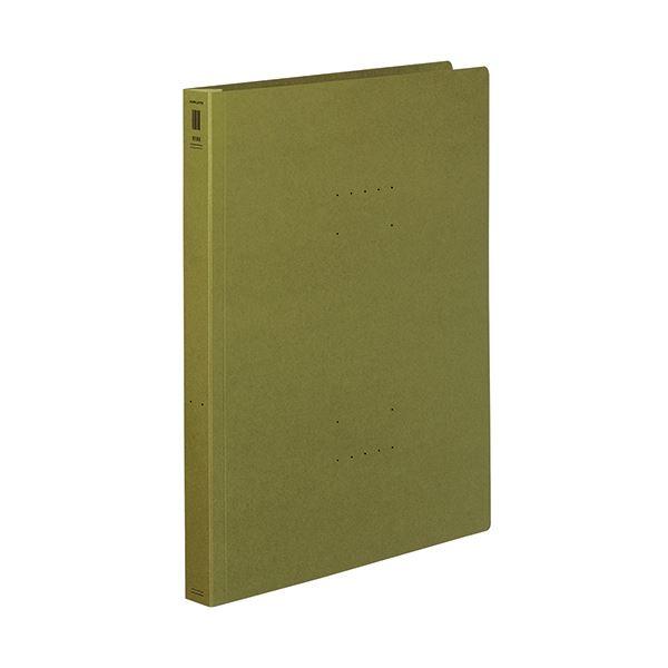 (まとめ) コクヨフラットファイル(NEOS)(厚とじ) A4タテ 250枚収容 背幅28mm オリーブグリーン フ-NEW10DG1セット(10冊) 【×10セット】