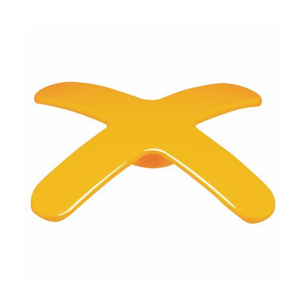 (まとめ) ライオン事務器 マグネットバー ペケピタクロスバータイプ 幅86×奥行86×高さ12mm オレンジ MB86X-1P 1個 【×50セット】