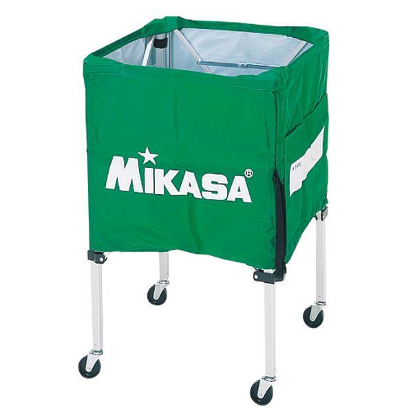 MIKASA(ミカサ)器具 ボールカゴ 箱型・小(フレーム・幕体・キャリーケース3点セット) ライトグリーン 【BCSPSS】