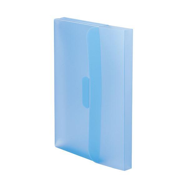 (まとめ)TANOSEE PP製ケースファイルA4 背幅23mm ブルー 1パック(3冊) 【×20セット】