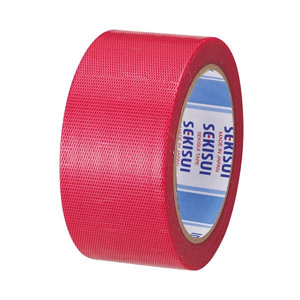 【スーパーセールでポイント最大44倍】(まとめ) 積水化学 透明クロステープ No.781 50mm×25m 赤 N78SR03 1巻 【×30セット】