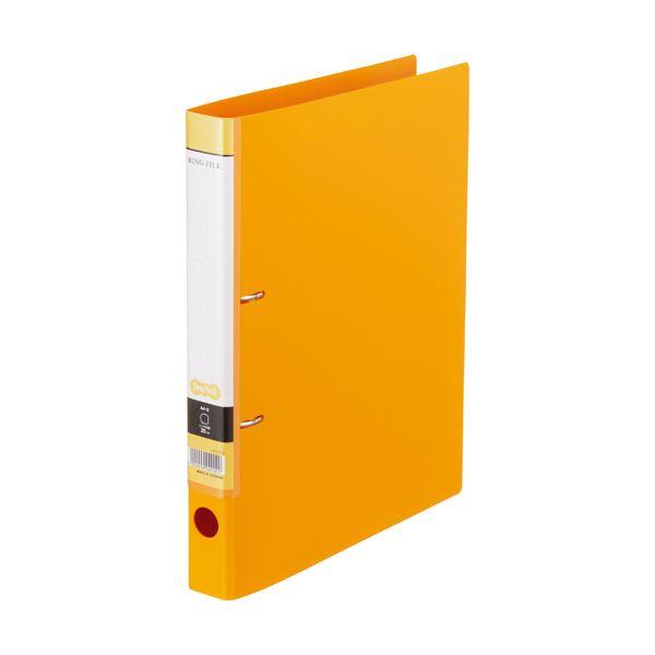 (まとめ) Dリングファイル A4-S 背幅37mm オレンジ 10冊 【×10セット】