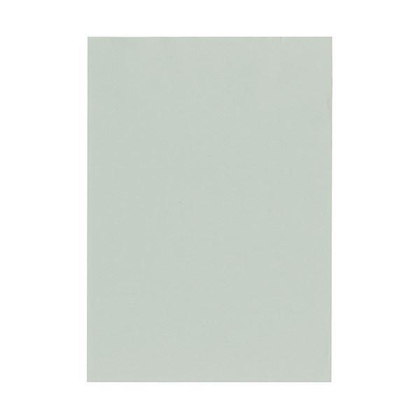 (まとめ) 北越コーポレーション 紀州の色上質A4T目 薄口 銀鼠 1冊(500枚) 【×5セット】