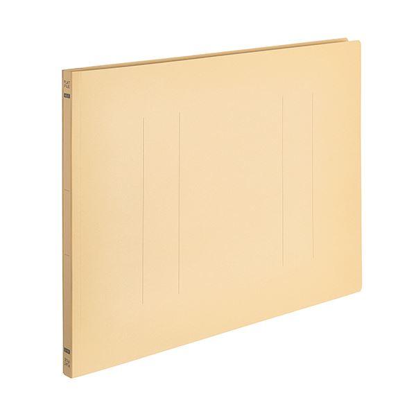 (まとめ) TANOSEEフラットファイルE(エコノミー) A3ヨコ 150枚収容 背幅18mm イエロー 1パック(10冊) 【×10セット】