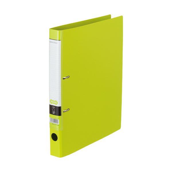【スーパーセールでポイント最大44倍】(まとめ) Dリングファイル A4-S 背幅37mm ライトグリーン 10冊 【×10セット】