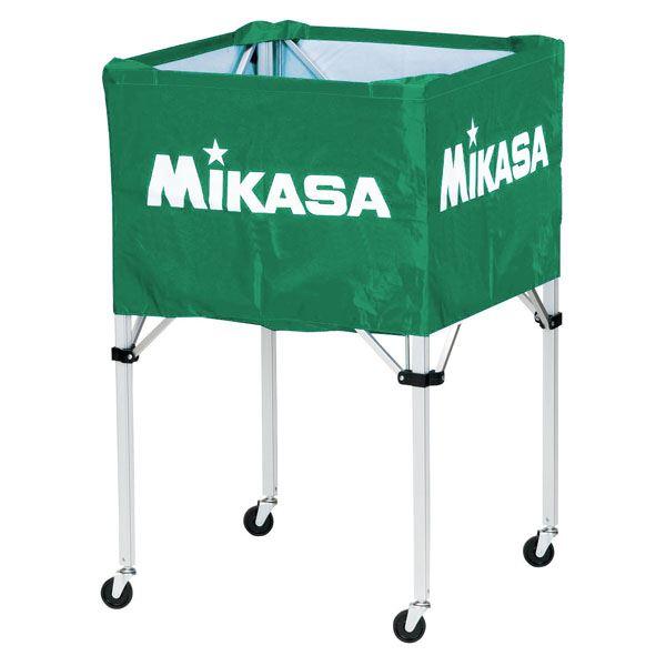MIKASA(ミカサ)器具 ボールカゴ 箱型・大(フレーム・幕体・キャリーケース3点セット) グリーン 【BCSPH】