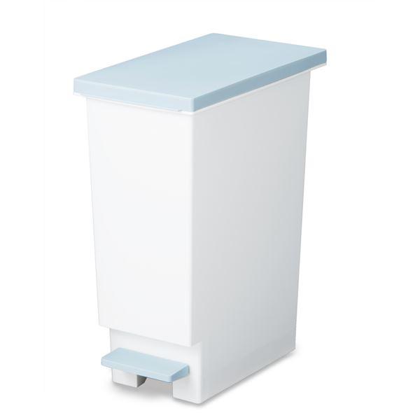 (まとめ) ペダル式 ゴミ箱/ダストボックス 【20L ブルー】 フタ付き 分別 スリム 『ネオカラー』 【×10個セット】