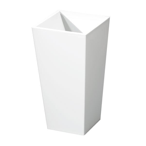 (まとめ) スクエア型 ダストボックス/ゴミ箱 【9L ホワイト】 レザー風 『ユニード カクス』 【×20個セット】