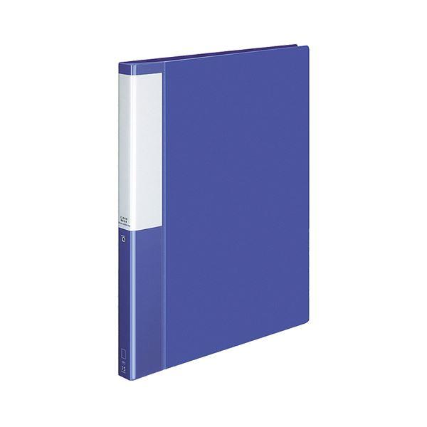 (まとめ) コクヨ クリヤーブック(クリアブック)(POSITY) 替紙式 A4タテ 30穴 15ポケット付属 背幅27mm ブルー P3ラ-L720B 1冊 【×10セット】