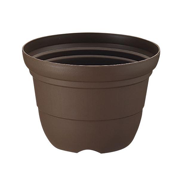 (まとめ) プラスチック製 植木鉢/ポット 【輪鉢 6号 コーヒーブラウン】 ガーデニング 園芸 『カラーバリエ』 【×60個セット】