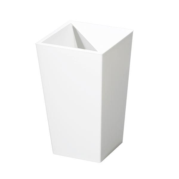 (まとめ) スクエア型 ダストボックス/ゴミ箱 【5.5L ホワイト】 レザー風 『ユニード カクス』 【×30個セット】