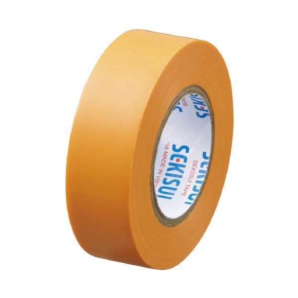 【スーパーセールでポイント最大44倍】(まとめ)セキスイ エスロンテープ #360 19mm×10m 橙 V360D1N(×300セット)