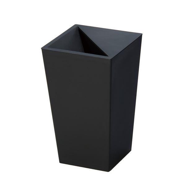 カクス』 ブラック】 【5.5L レザー風 スクエア型 『ユニード ダストボックス/ゴミ箱 【×30個セット】 (まとめ)
