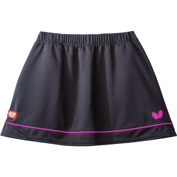 【スーパーセールでポイント最大44倍】Butterfly(バタフライ) 卓球ゲームスカート RETIA SKIRT レティア・スカート レディース用 ブラック×ピンク M