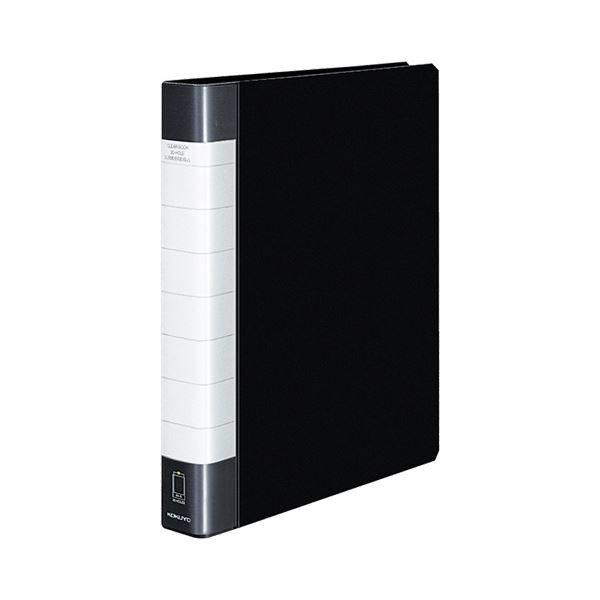クリヤーブック クリアブック<タフボディ>(替紙式) A4タテ 30ポケット 30穴 90枚収容 黒 【×10セット】