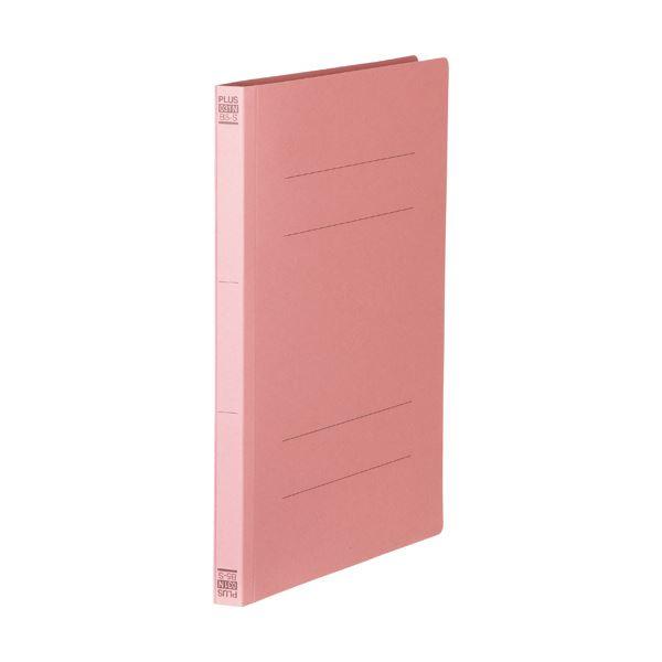 【スーパーセールでポイント最大44倍】(まとめ)プラス フラットファイル 樹脂とじ具B5タテ 150枚収容 背幅18mm ピンク No.031N 1セット(10冊) 【×10セット】