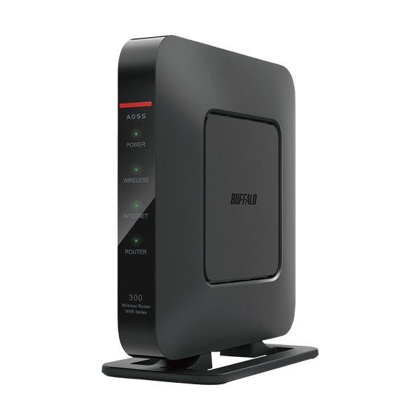 (まとめ)バッファロー QRsetup AirStation ハイパワーGiga 無線LAN親機 11n/g/b 300Mbps Dr.Wi-Fi対応 WSR-300HP1台【×3セット】