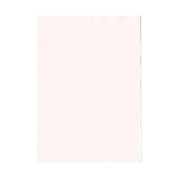 (まとめ) 北越コーポレーション 紀州の色上質A4T目 薄口 さくら 1冊(500枚) 【×5セット】