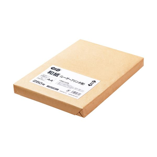 (まとめ) TANOSEE レーザープリンタ用和紙A4 1冊(250枚) 【×5セット】