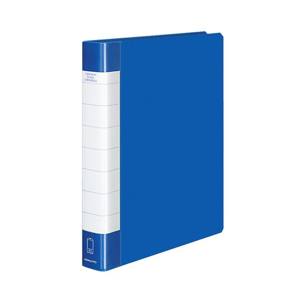 【スーパーセールでポイント最大44倍】クリヤーブック クリアブック<タフボディ>(替紙式) A4タテ 30穴 30ポケット 90枚収容 青 【×10セット】