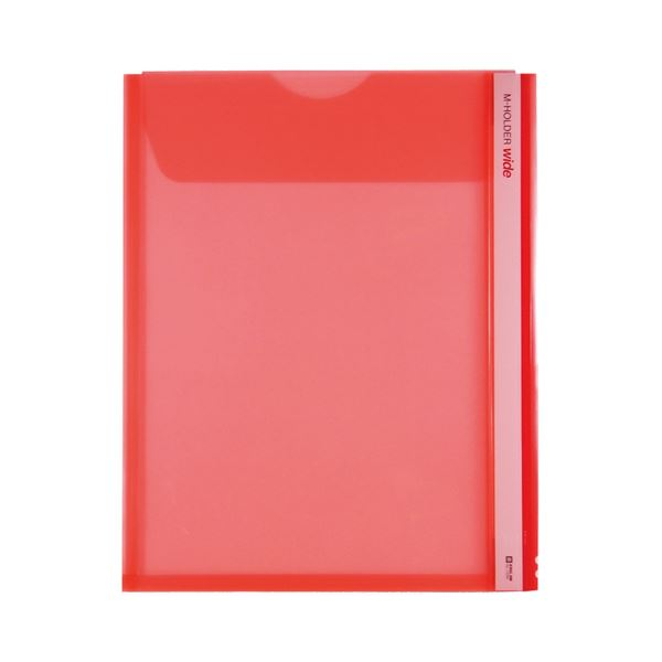 【スーパーセールでポイント最大44倍】(まとめ) キングジム Mホルダー A4タテ 赤フタ付 とめまるタック1組付 733W 1セット(5枚) 【×10セット】