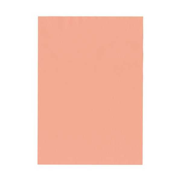 (まとめ) 北越コーポレーション 紀州の色上質A4T目 薄口 サーモン 1冊(500枚) 【×5セット】