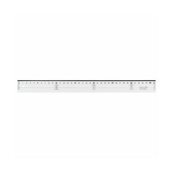 【マラソンでポイント最大44倍】(まとめ) ライオン事務器 アクリル直線定規36cm A-12 1本 【×30セット】