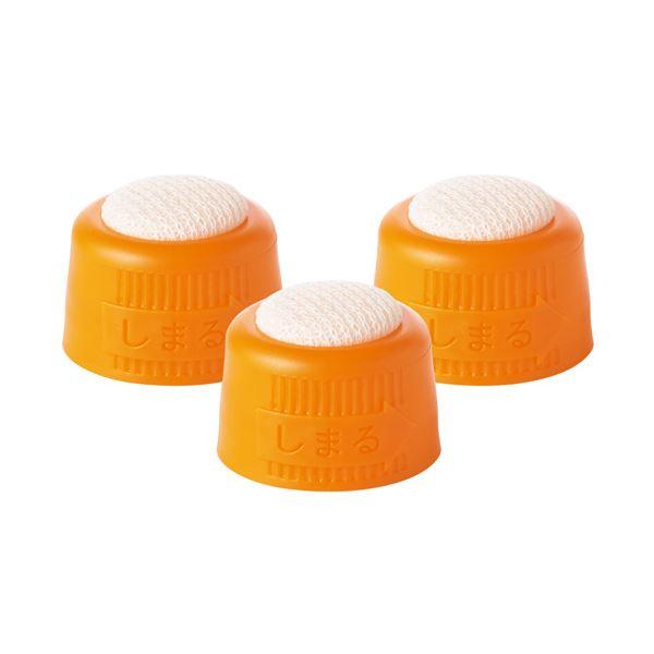 (まとめ) TANOSEE 液状のり交換スポンジキャップ 1パック(3個) 【×100セット】