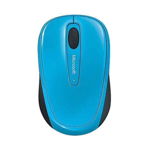 【マラソンでポイント最大43倍】(まとめ)マイクロソフト ワイヤレス モバイルマウス 3500 シアンブルー GMF-00420 1個【×3セット】