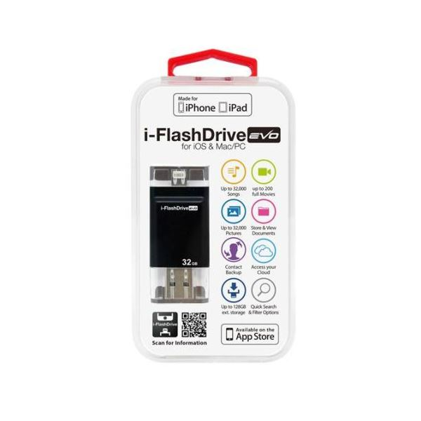 Photofast i-FlashDrive EVO for iOS&Mac/PC Apple社認定 LightningUSBメモリー 32GB IFDEVO32GB