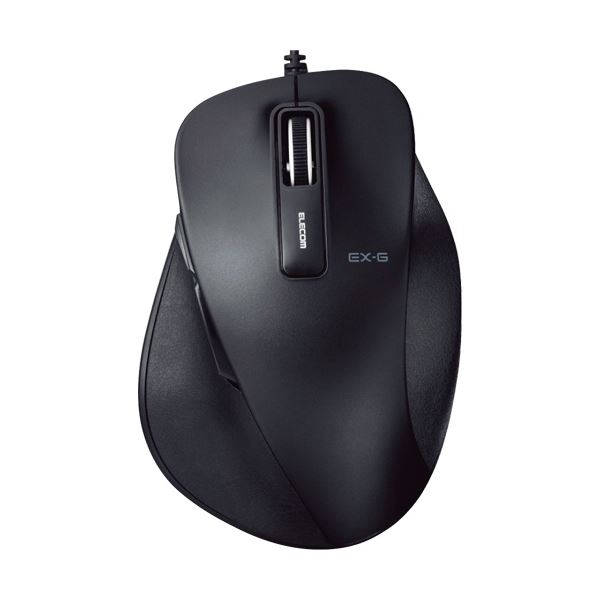 【有線タイプ】快適な操作を実現する高精細マウス。 (まとめ) エレコム EX-G有線BlueLEDマウス Lサイズ ブラック M-XGL10UBBK 1個 【×10セット】