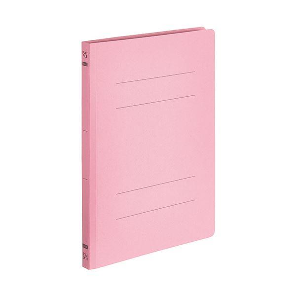 【スーパーセールでポイント最大44倍】(まとめ) TANOSEEフラットファイルE(エコノミー) B5タテ 150枚収容 背幅18mm ピンク 1パック(10冊) 【×30セット】