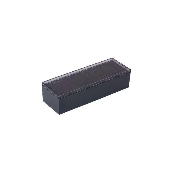 【スーパーセールでポイント最大44倍】(まとめ) キングジム 名刺整理箱 約1000枚収納黒 75 1個 【×10セット】