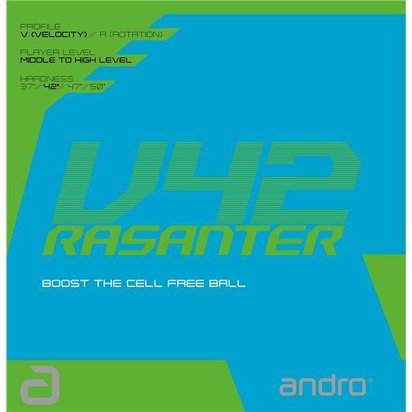【··で··最大44倍】andro(アンドロ) テンションラバー RASANTER V42 ラザンターブイ42黒ULTRA
