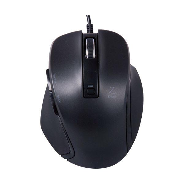 (まとめ) ナカバヤシ 小型有線5ボタンBlueLEDマウス ブラック MUS-UKF120BK 1個 【×10セット】
